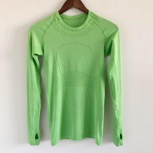 Lululemon Run: Swiftly Tech Long Sleeve Green 4
